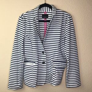 Cynthia Rowley Women's XL Stripped Blazer Size XL
